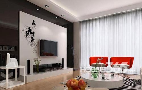 简单电视墙装修效果图
