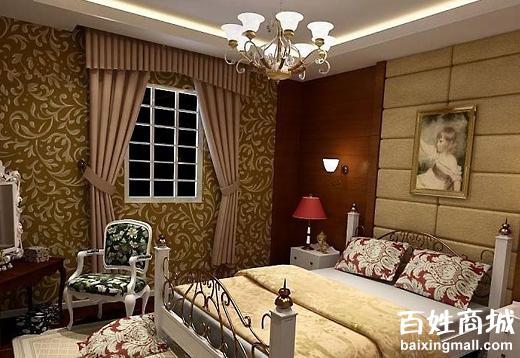 欧式古典卧室装修设计图