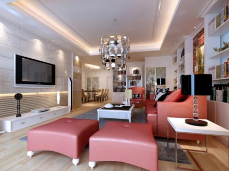 2014最新家庭客厅装修效果图 赏析绝美样板间