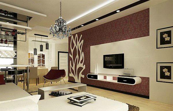 2014年受欢迎的5套韩式简约客厅电视背景墙装修效果图