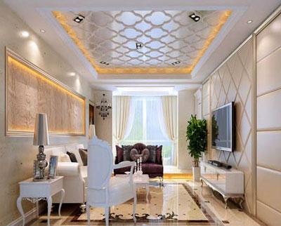 2014年最新客厅吊顶图片欣赏  三联